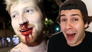 HE GOT PUNCHED IN THE FACE!! (VERY PAINFUL)
