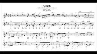 Nota Akor  Eşlik -  Ayrılık / Fikrimden Geceler ( Mi Kararlı )