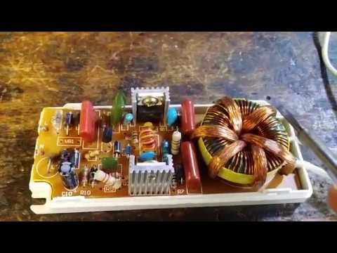 Ремонт электронного трансформатора CADJA 1008 160W