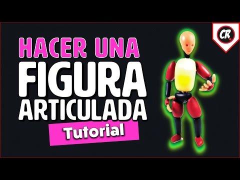 CÓMO HACER UNA FIGURA ARTICULADA   How to make a posable doll tutorial