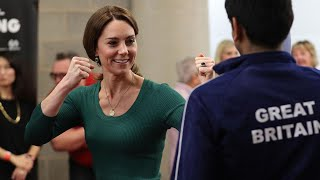 Duchess of Cambridge meets families behind sports stars of the future - Telegraph.co.uk