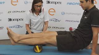 Foam Rolling Tight Spots In Calves - St Ives Physiotherapy & Sports Therapy Centre
