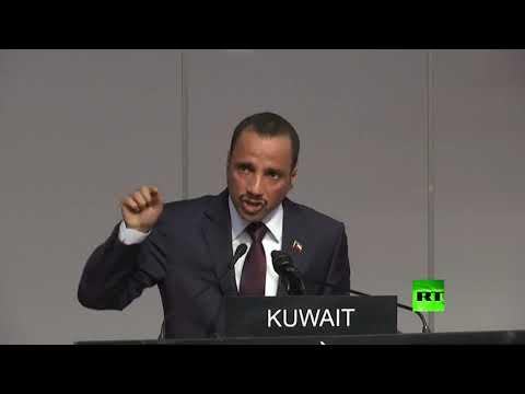 العرب اليوم - شاهد: الوفد الإسرائيلي يُقاطع كلمة رئيس مجلس الأمة الكويتي في جنيف