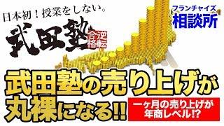 【年商●●億円!?】武田塾の近況を教えてください!!|フランチャイズ相談所 vol.329