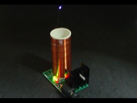 Hochspannende Versuche (3) - Mini Tesla Spule als Bausatz von Banggood.com