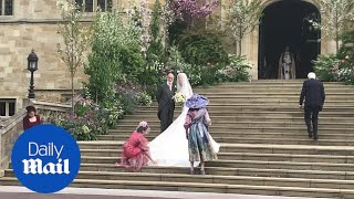 Bridesmaids Arrive At St George's Chapel Followed By Lady Gabriella