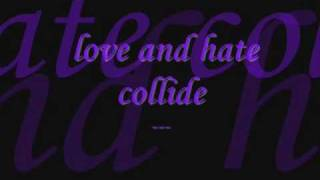 when love and hate collide with lyrics