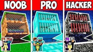 Minecraft NOOB vs PRO vs HACKER : FAMILY BLOCK SECRET PRISON ADVENTURE in Minecraft | Animation