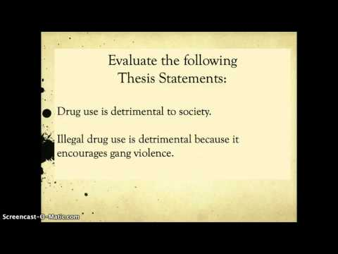 Topic Sentence vs. Thesis Statement