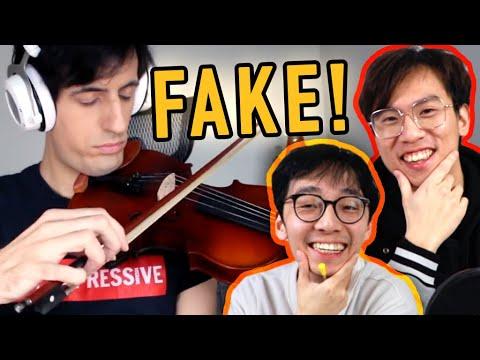 Davie504 FAKES Playing the Violin!?