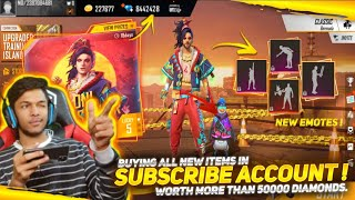 Buying All New Rare Items In Subscriber Account Worth 30,000 Diamonds At Garena Free Fire 2020