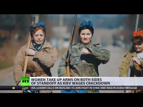 Download Women at War: Female fighters take up arms on both sides of Ukraine conflict Mp4 HD Video and MP3