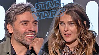 Star Wars 9 Oscar Isaac & Keri Russell talk! (2019) The Rise of Skywalker