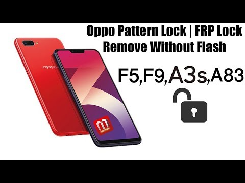 Oppo A3s, F9, F5, F5 Youth A83 CPH1729 Pattern Lock Without
