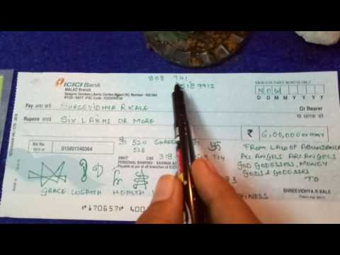 How to make an #abundance #cheque By #ShreevidhyaGold