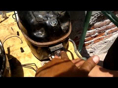 Refrigerador vitrina no enfría 1a. parte(revisión de compresor)