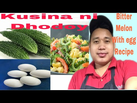 Bitter melon With egg. Cooking recipe by kusina ni dhodoy