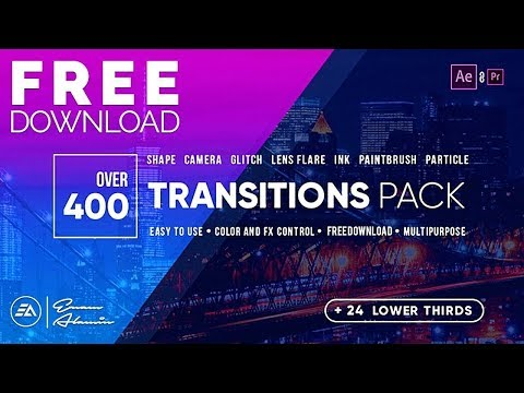 400 Transitions Pack Lower Thirds Pack Free Download For
