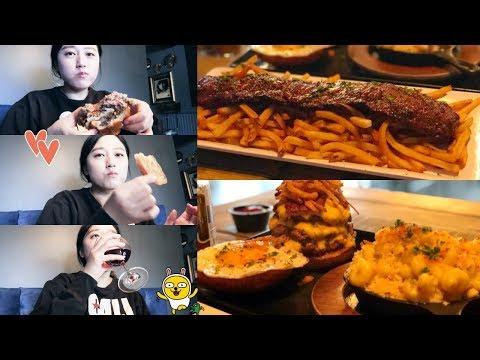FoodVlog★ Tripple Patties Burger + Steak Frites + Mac n Cheese!oh ye!