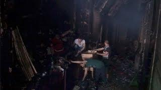 أصحاب المحلات بعد إخماد حريق الموسكي: اتخرب بيتنا