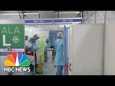 Inside Brazil Field Hospital Battling Coronavirus | NBC Nightly News