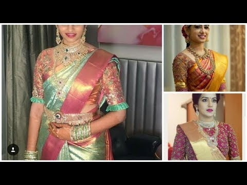 latest pattu sarees with bridal blouse designs//*** 2019 ***beautiful wedding collection