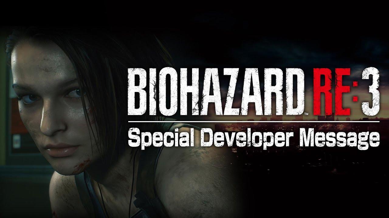 『バイオハザード RE:3』Special Developer Message