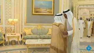 تحميل اغاني رئيس الدولة يستقبل أمير قطر بحضور محمد بن راشد MP3