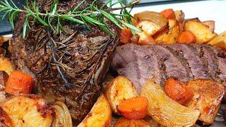 מתכון לצלי בקר חגיגי בתנור עם חרדל ודבש תפוחי אדמה