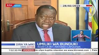 Agizo la Waziri Matiang'i na Inspekta Mkuu wa Polisi kuhusu umiliki wa bunduki lapuuzwa
