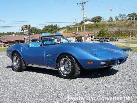 1970 Mulsanne Blue Corvette Stingray Convertible 4spd Video