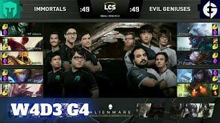 Immortals vs Evil Geniuses | Week 4 Day 3 S10 LCS Summer 2020 | IMT vs EG W4D3