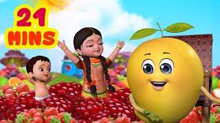 मीठे स्वादिष्ट फल | Hindi Rhymes Collection for Children | Infobells