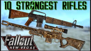 10 STRONGEST RIFLES (Non-Energy) In Fallout: New Vegas - Caedos Countdowns