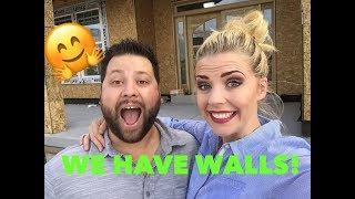 UPDATED HOUSE TOUR - WALLS ARE UP