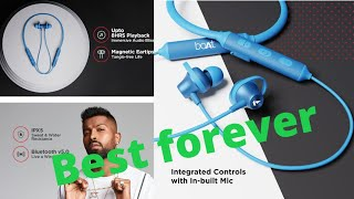 #boAtRockerz 245v2 #Wireless Bluetooth8 Hours Playback Time,  Water Resistance,in-Built #mic