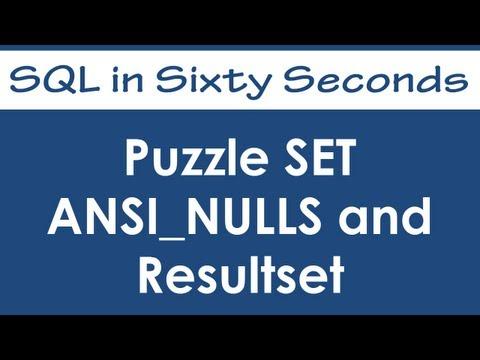 SQL SERVER- Solution - SQL Puzzle of SET ANSI_NULL 0