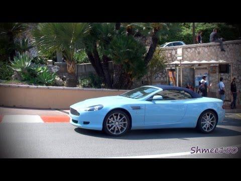 Loud Aston Martin Db9 Volante Driving In Monaco
