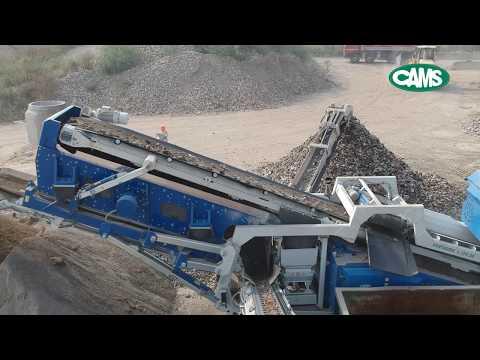 Cams Cams Centauro Bauschuttschredder, Brechanlage mit Siebanlage