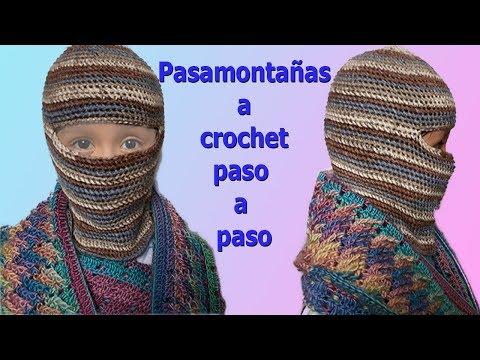 Gorro para niños pasamontaña a crochet paso a paso, facil y rapido / para 2 a 3 años