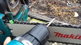 Как заточить цепь для бензопилы за 60 секунд !