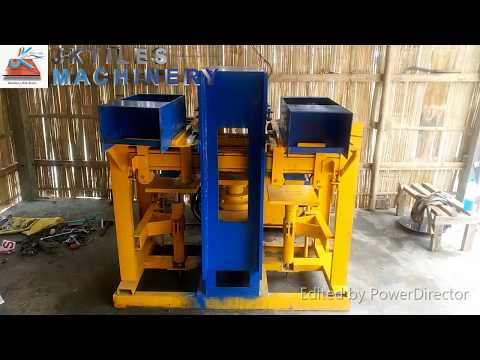 Semi Automatic Paver and Brick Making Machine