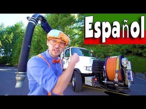 Máquinas para Niños con Blippi Español |Aprenda Sobre el Camión Aspirador