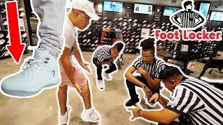 WEARING FAKE JORDANS TO FOOTLOCKER!!