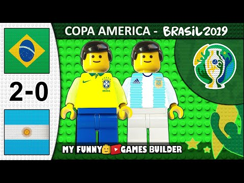 Brazil vs Argentina 2-0 • Copa America 2019 (Semi-Final 02/07) All Goals Highlights in Lego Football