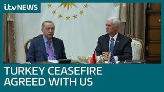 Turkey agrees to pause Syria advance | ITV News