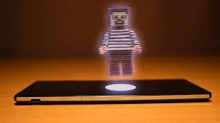 3D ГОЛОГРАММА НУБА! Как сделать ГОЛОГРАММУ у себя дома? На телефоне 3d эффект объемное изображение!