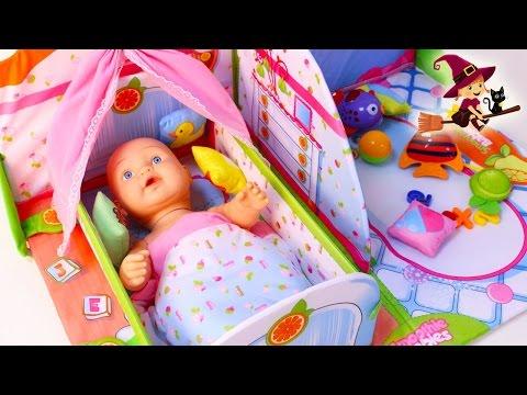 Casa de Bebe de Juguetes con Cuna y Zona de Juego