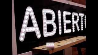 preview picture of video 'cartel a led ABIERTO. fabrica de carteles a led bahía blanca'