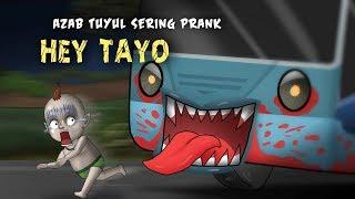 Kartun Lucu - Azab Tuyul Sering Prank Hey Tayo, Kartun Hantu, Rizky Riplay